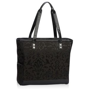 Thirty-one Cindy Tote - Black Jacquard